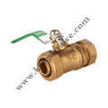 Green handle brass ball valve