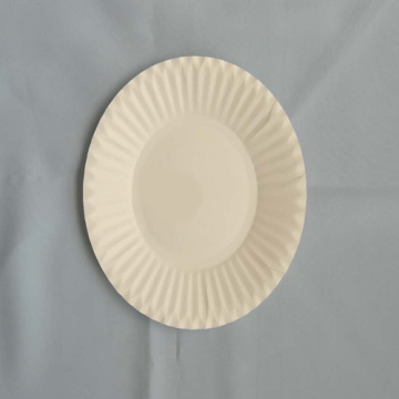 "5.5""  Paper Plates Embossed Design White"