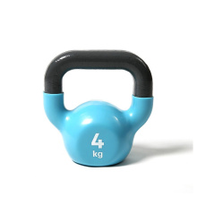 4KG Blue Vinyl Coated Kettlebell