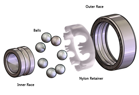 Open Nylon Cage Bearing