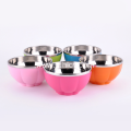 Colorful Soup Bowls Inside Stainless Steel Outside Plastic