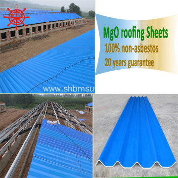 Corrosion-protection Long-span PET Membrane MgO Roof Sheets