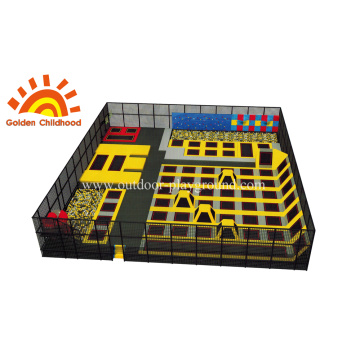 Fitness Small rectangle trampoline with jumping