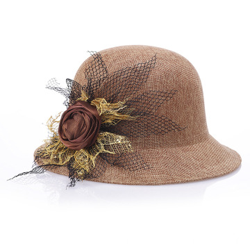 Nobility summer lady hat fashion dinner party cap