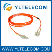 High Temperature SC DX 62.5 / 125 Fan-out Fiber Optic Patch Cord For Telecommunication Networks