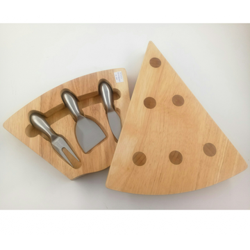 Triangle shape wooden cheese board
