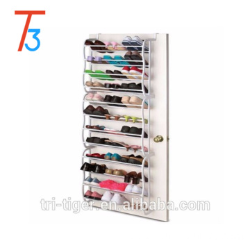 Plastic and Metal 36 Pairs easy to assemble shoe rack