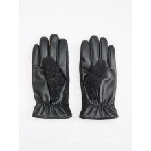 worsted wool leather classical mens glove