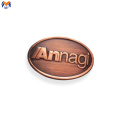 Metal letter logo plates for handbag