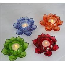 Glass Lotus Tea Light Holder