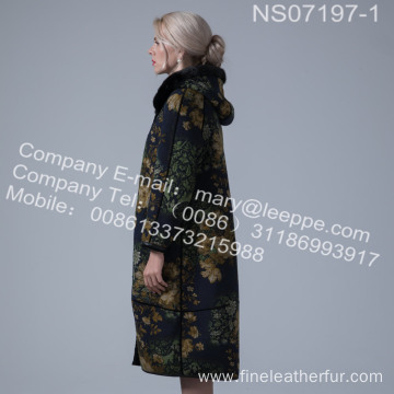Reversible Merino Shearling Winter Coat For Lady