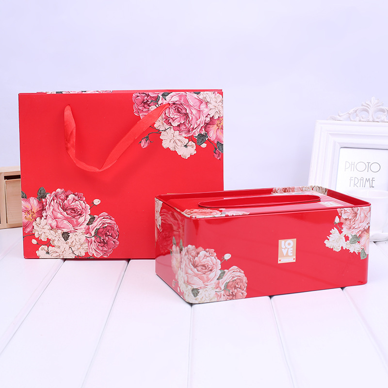 Tinplate Tissue Creative Wedding Gift  Box