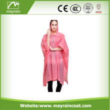Disposable Cheap White Adult PE Rain Poncho