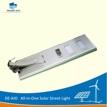 10 Years for All In One Solar Street Light DELIGHT DE-AIO 60W Mono Solar Panel integrated Light supply to Mongolia Exporter
