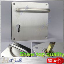 Simple Door Handle On Plate With Lock Holes