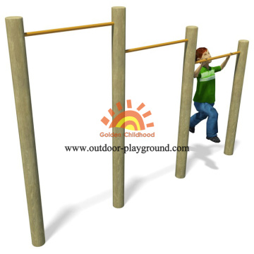 Wooden Uneven Bars Balance HPL Playground For Kids