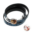 Snake Leather Noosa Bracelet DIY Button Snap Wristband