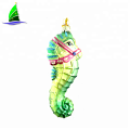 New style fashionable Christmas glass sea horse ornaments