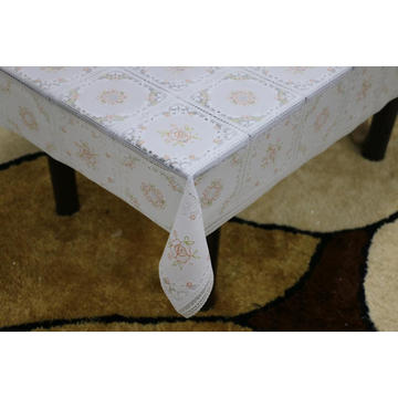 Printed pvc lace tablecloth by roll thick