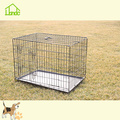 Wholesale Large Folding Double Door Black Dog Cage