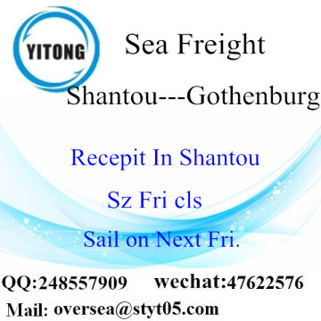 Shantou Port LCL Consolidation To Gothenburg