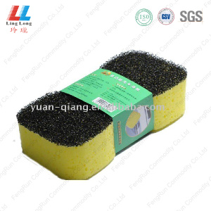 Black scouring car sponge cleaning