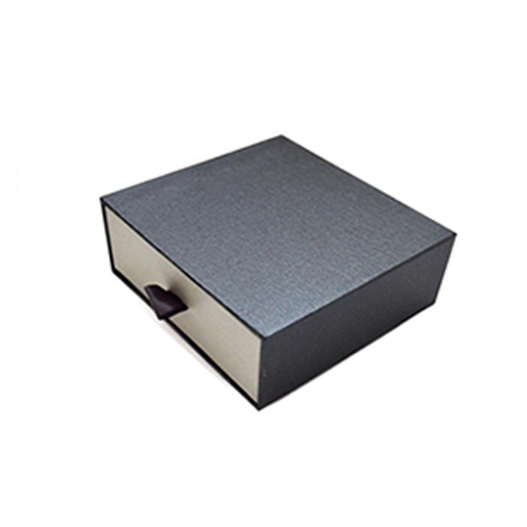 Printed Logo Drawer Gift Paper Box With Ribbon