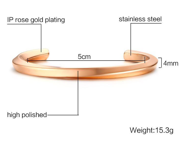rose gold open bangle