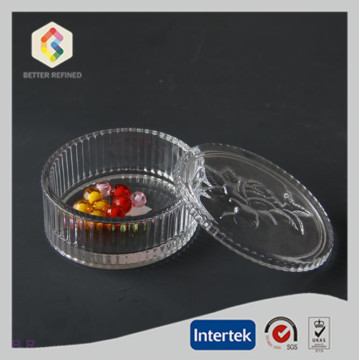 Factory directly sale for Ring Jewelry Box Clear Round Shape Glass Trinket Boxes supply to France Manufacturer