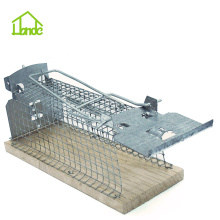 Best Price for Small Cage Trap,Metal Rat Trap Cage,Humane Small Animal Traps,Outdoor Mouse Traps Manufacturers and Suppliers in China Wooden Base Live  Mouse Trap Cage export to Virgin Islands (U.S.) Factory