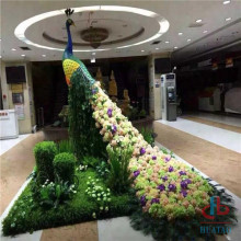 Huge artificial grass animal shaped sculpture