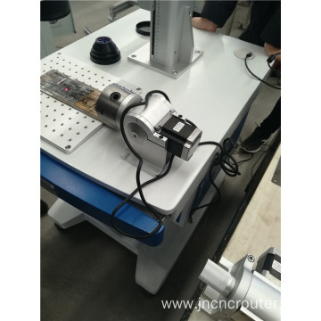 fiber laser marking machine for metal with rotary