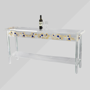 Clear Round Acrylic Modern Coffee Folding Table