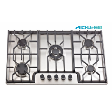 Sunflame 5 Burners 201 Level SS Brushed Hob
