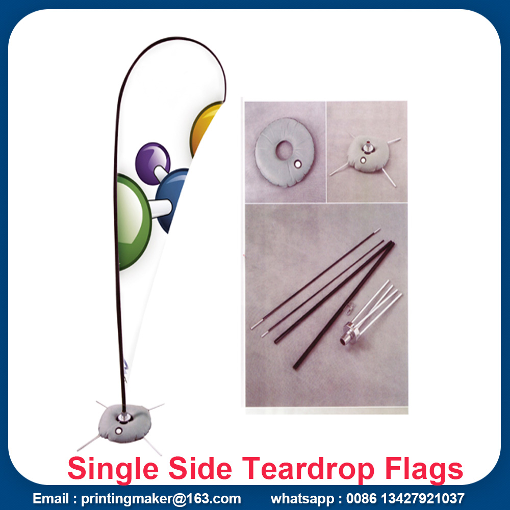 teardrop flags with cross base and water bag