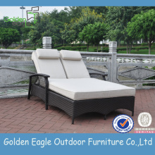 China for Adjustable Rattan Beach Chair Hot Sale Beach Double Sun Lounger supply to Japan Factories