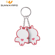 Super Lowest Price for RFID Silicone Keychain Tag Entrance Access RFID keyfob NFC Keychain 13.56MHz export to Mali Factories