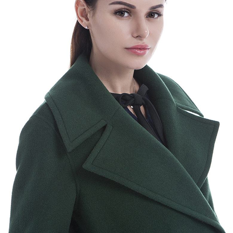 Green Full-length Cashmere Overcoat