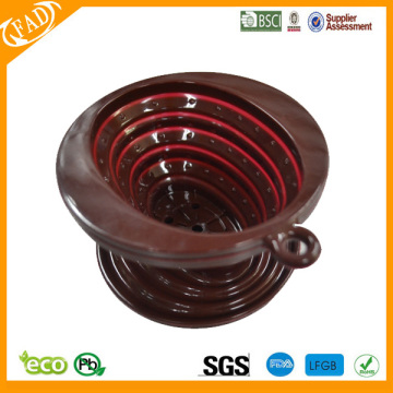 Renewable Design for Single Cup Coffee Filter BPA free heat resistant collapsible Silicone coffee dripper supply to Kyrgyzstan Exporter