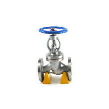 flange ss316 air disc stainless steel globe valve straight type