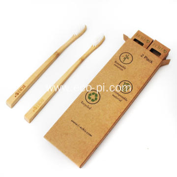 BPA Free Charcoal Soft Biodegradable Bamboo Toothbrush
