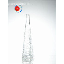Creative Sloping Shoulder Glass Diamond Bottle