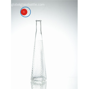 Hot sale reasonable price for Crystal Glass Bottle Creative Sloping Shoulder Glass Diamond Bottle supply to Eritrea Supplier