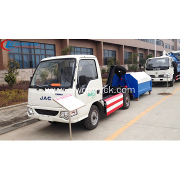 New arrival JAC mini electric hook loader truck
