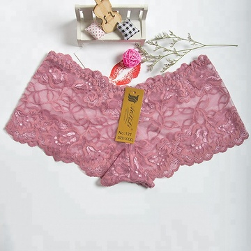 Sexy Colors Lace transparent nylon women panties