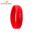 RFID 125KHZ Soft PVC Wristband for theme Park