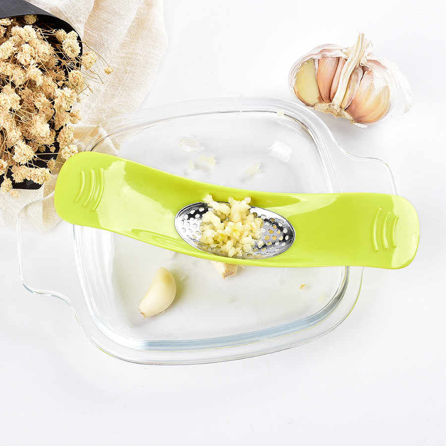 garlic press stainless steel