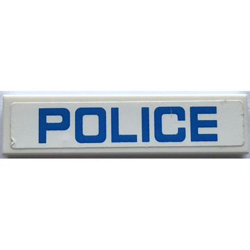 Advertising custom vinyl police bumple sticker
