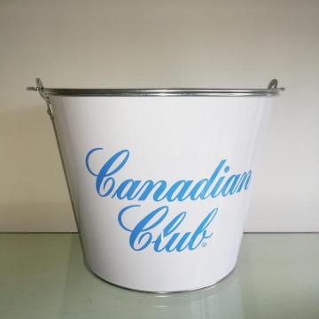 Ice tin bucket with portable handle
