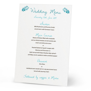Wholesale laser cut table wedding menu card